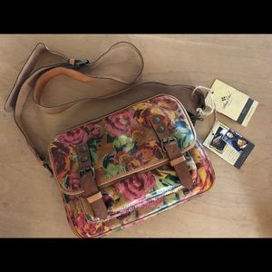 Floral leather Patricia Nash Crossbody Handbag
